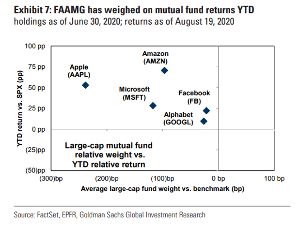 FAAMG weighed on mutual fund