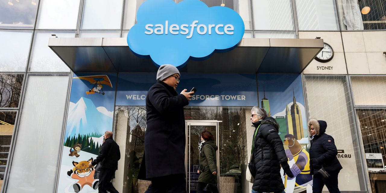Salesforce's 30% stock rally this week is a possible 'nightmare' scenario for the Dow committee – MarketWatch