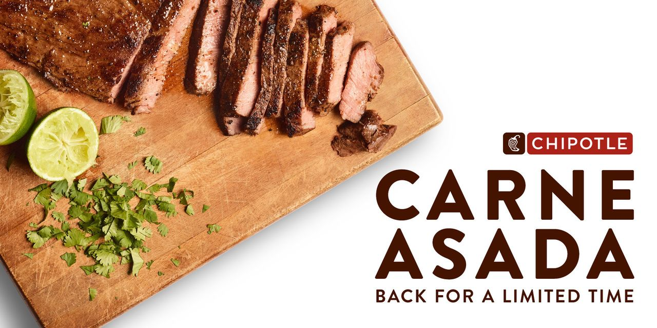 Chipotle brings back carne asada for a limited time