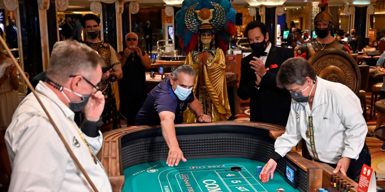 Caesars stock spikes after execs say 'weekends in Las Vegas are sold out for the foreseeable future'