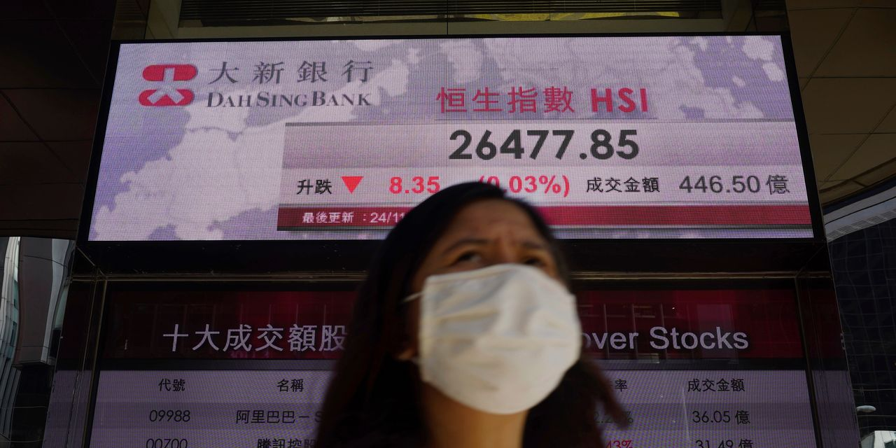 Asian markets gain, encouraged by vaccine news
