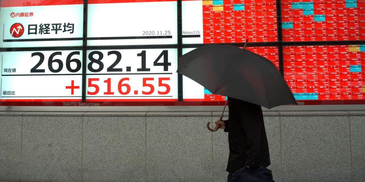 Asian markets rise after Dow tops 30,000