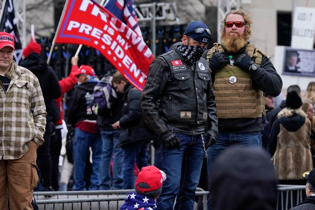 Hundreds of Trump supporters rally in D.C. ahead of congressional vote affirming Biden's win - MarketWatch