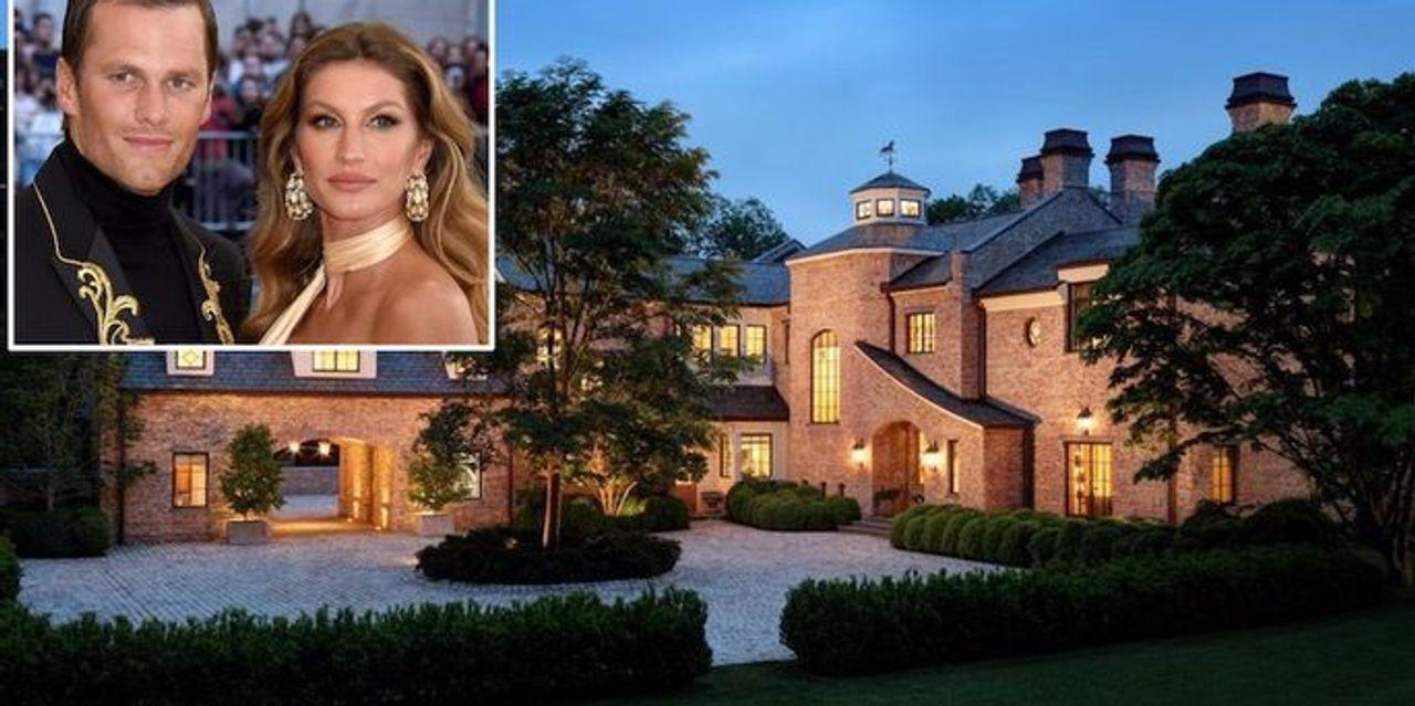 Take a look inside Tom Brady and Gisele Bundchen's Massachusetts mansion