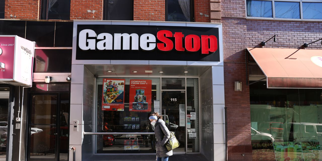 Here's Jim Cramer's theory of the emerging strategy at GameStop as its chief financial officer exits