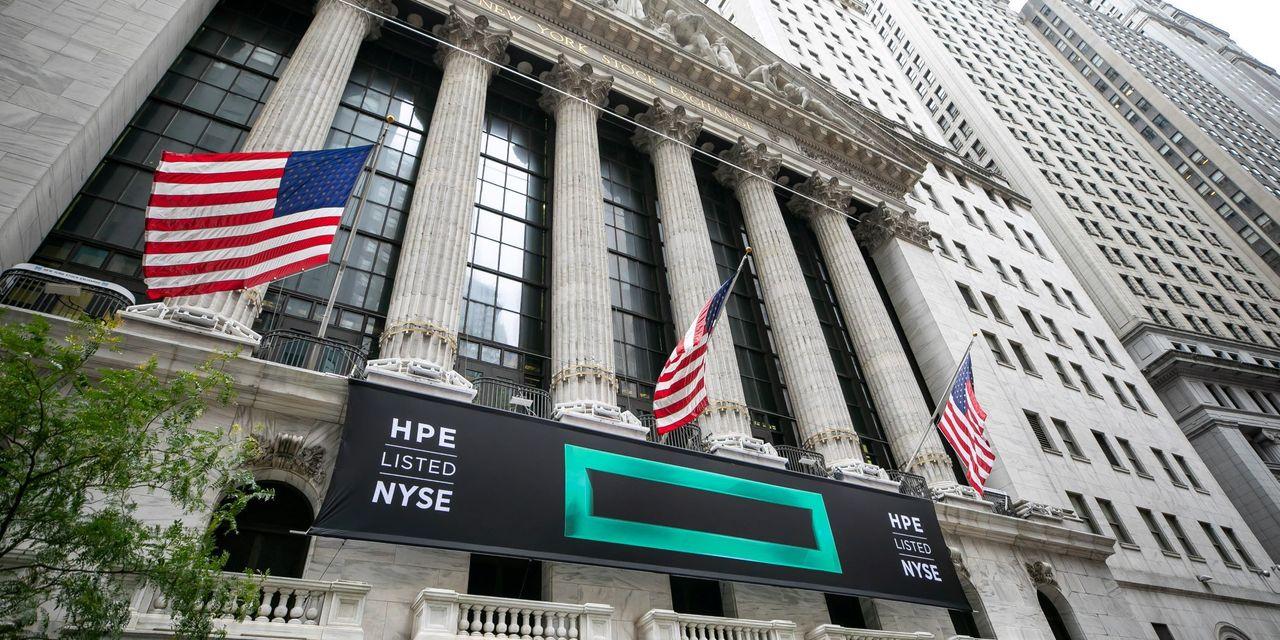 HP Enterprise earnings, highest revenue estimates, sending shares 3%