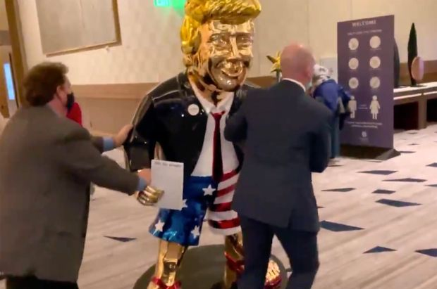 This CPAC 'golden calf' Trump statue is spurring backlash of Biblical proportions - MarketWatch
