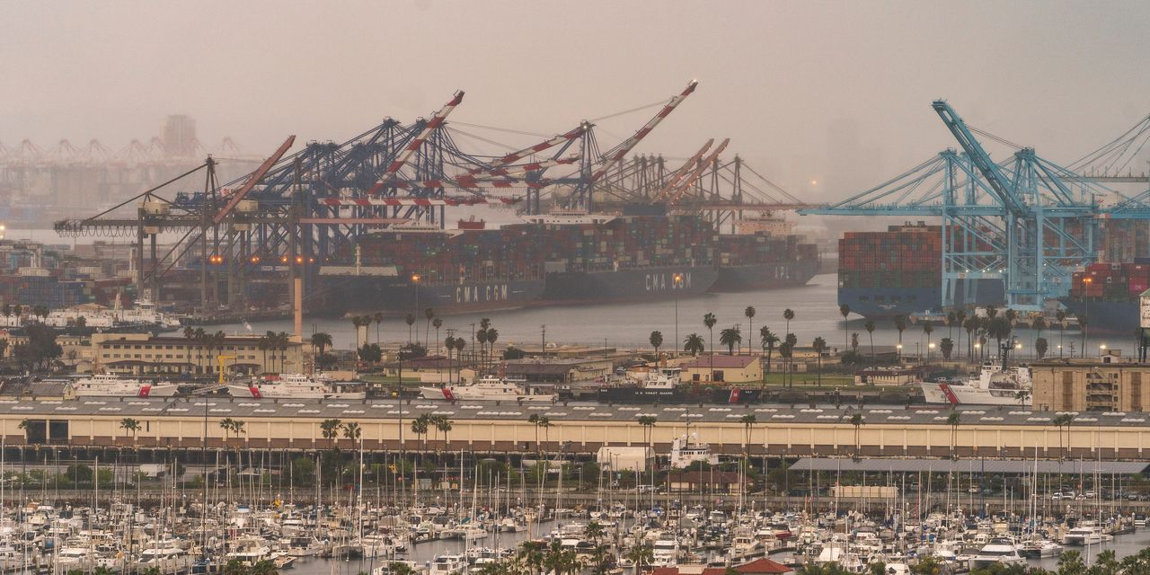 Bottlenecks in ports leave ships stranded and businesses congested
