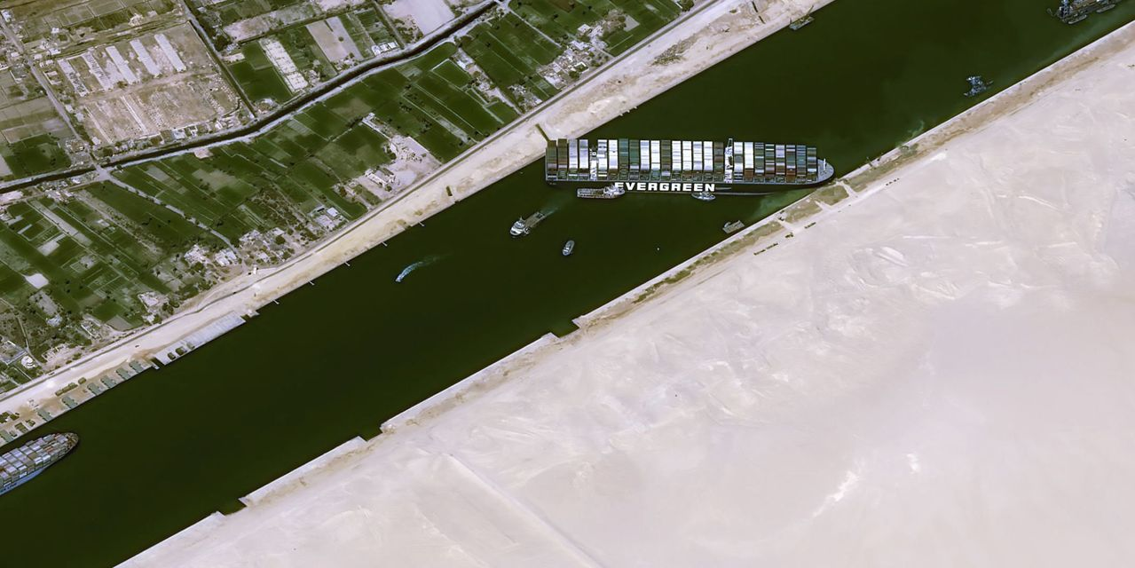 Concerns over the Suez Canal accident are leaning towards natural gas