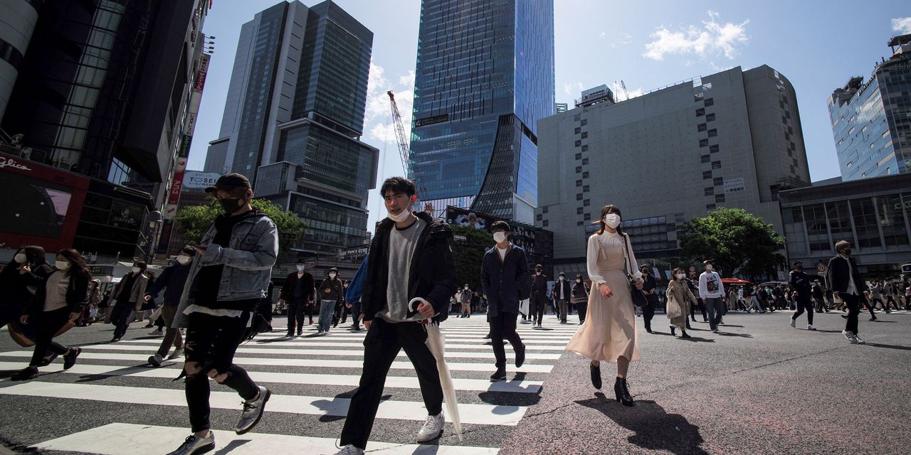 Asian markets are mostly gaining amid cautious prospects for the global economy