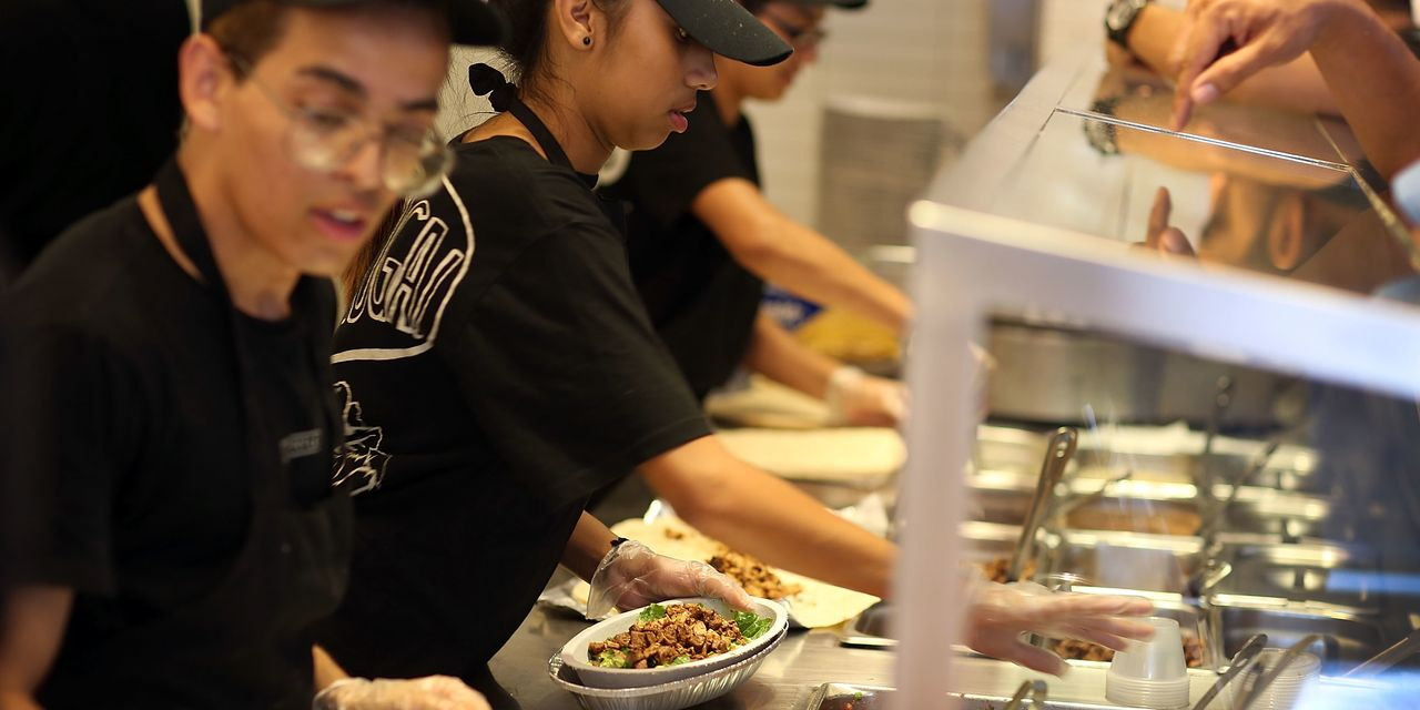 Chipotle's first-quarter sales rise 20%, spurred by online orders