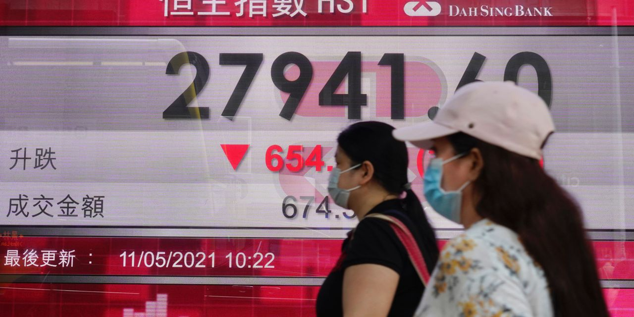 Asian markets retreat after tech selloff on Wall Street