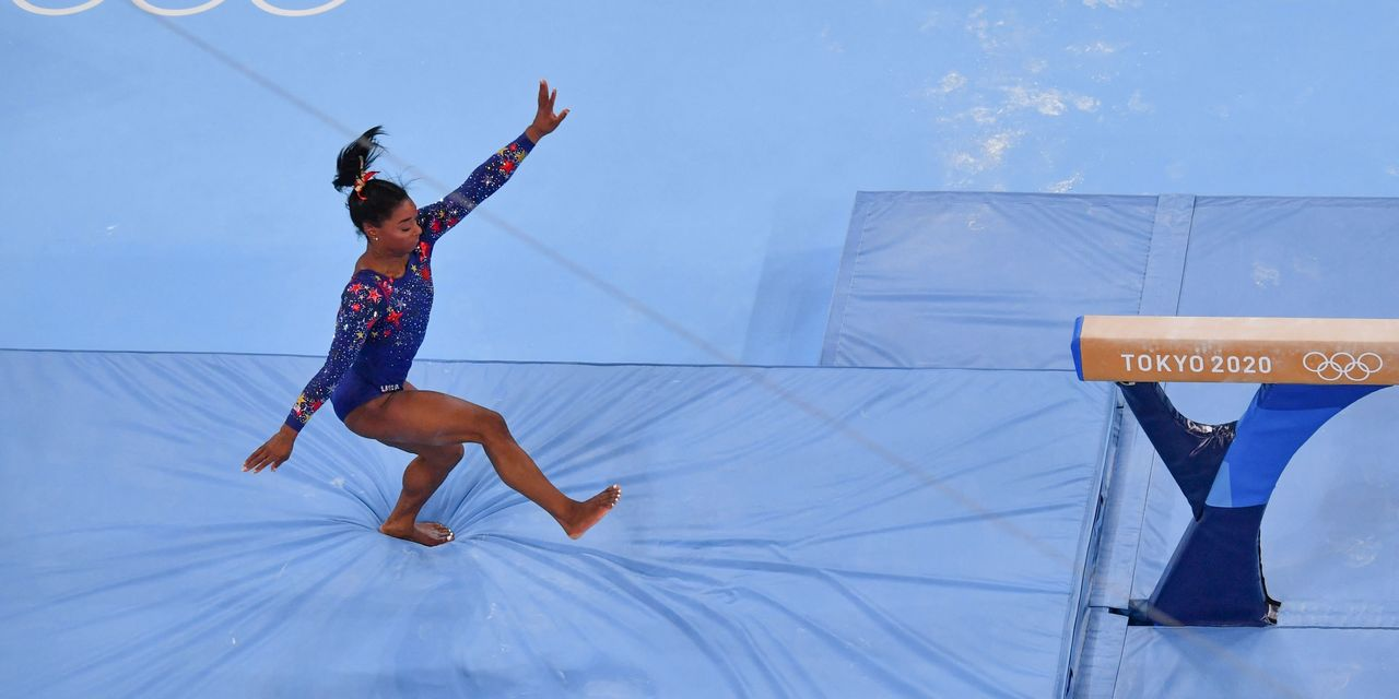 Russians win women's gymnastics gold as U.S. star Simone Biles misses final with apparent injury