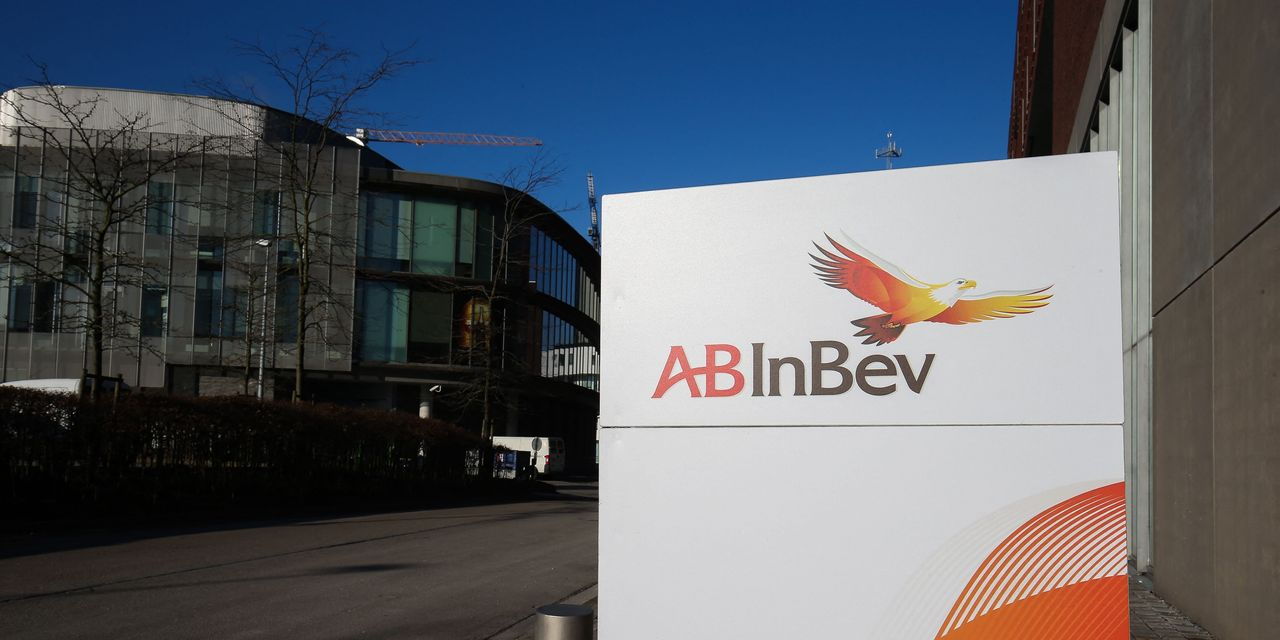Budweiser maker stumbles, while broader European stock markets rise