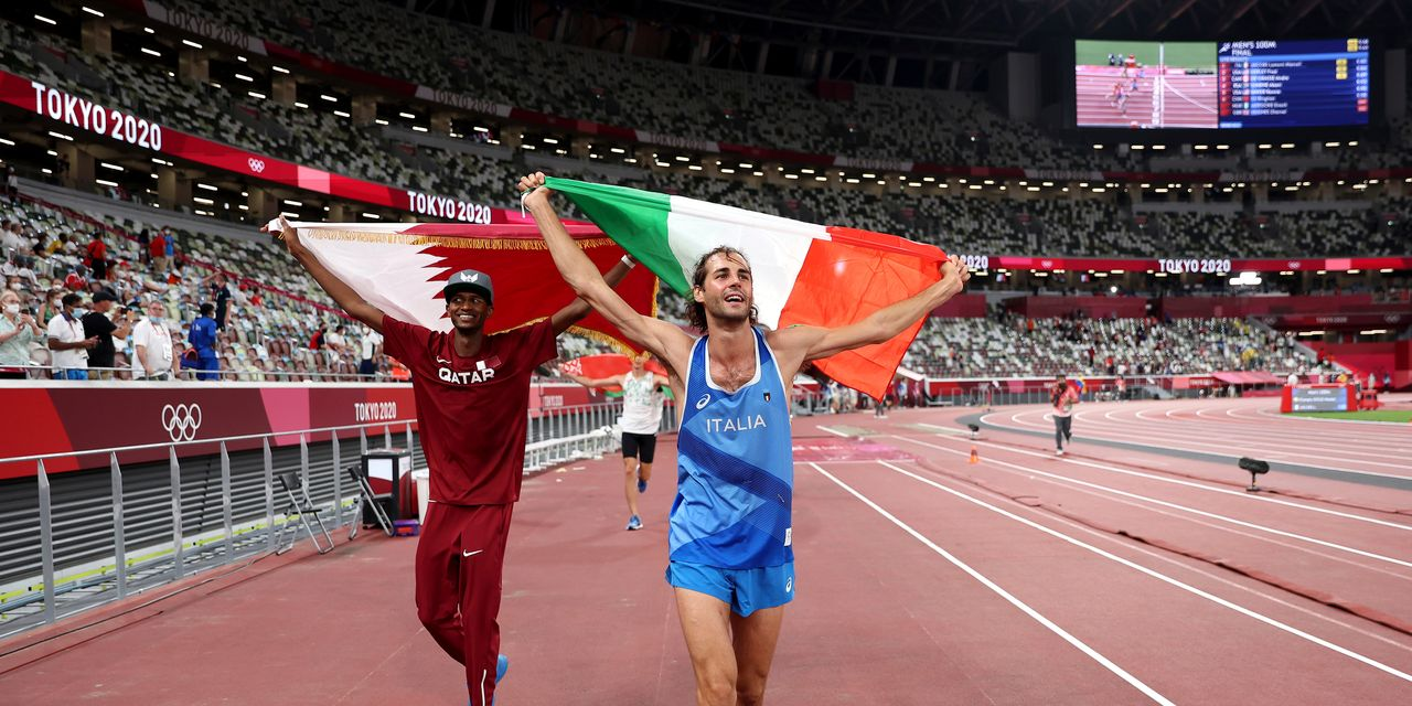 High-jump friends elect to share gold medals over jump-off