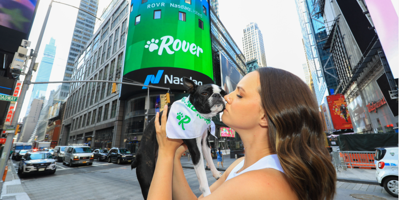 Rover shares jump in trading debut after pet-care platform goes public by merging with a SPAC