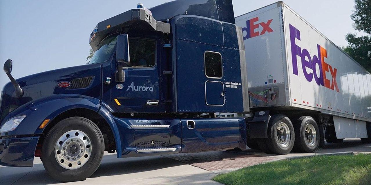FedEx, Aurora to launch autonomous-truck routes in Texas - MarketWatch